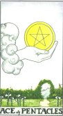 As de Pentagrame - Ace of Pentagrams in Tarot