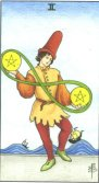 Doi de Pentagrame - Two of pentagrams in Tarot