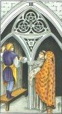 Trei de Pentagrame - Three of Pentagrams in Tarot