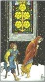 Cinci de Pentagrame - Five of Pentagrams in Tarot