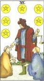 Sase de Pentagrame - Six of Pentagrams in Tarot