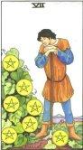 Sapte de Pentagrame - Seven of Pentagrams in Tarot