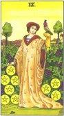 Noua de Pentagrame - Nine of Pentagrams in Tarot