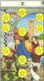 Zece de Pentagrame - Ten of Pentagrams in Tarot