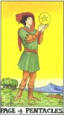Valet de Pentagrame - Page of Pentagrams in Tarot