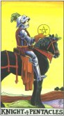 Cavaler de Pentagrame - Knight of Pentagrams in Tarot