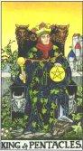 Regele de Pentagrame - King of Pentagrams in Tarot
