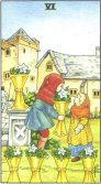Sase de Cupe - Six of Cups in Tarot