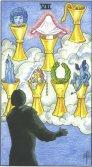 Sapte de Cupe - Seven of Cups in Tarot