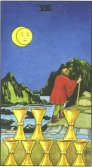 Opt de Cupe - Eight of Cups in Tarot